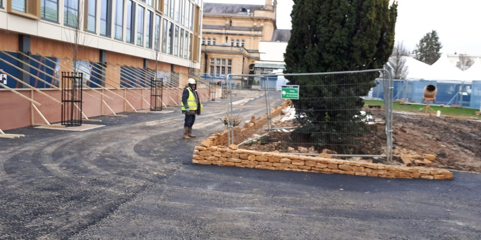 Pathways that will link Quadrangle and Imperial Gardens are being laid